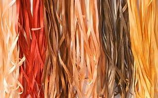 New 6 Spools of 100% Pure Silk Ribbons - Brown Tones - 60 mts x 4mm