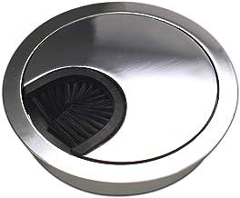 Pasacables Redondo de pl/ástico para Muebles de Oficina Apertura 60mm Gris, 2 Piezas AERZETIX