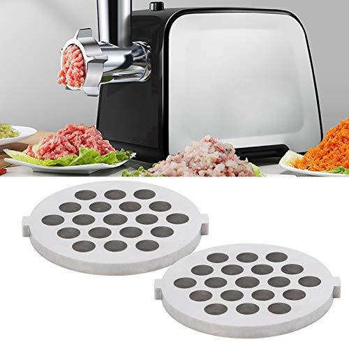 Chiwe Picadora de Carne, 2 Piezas/Juego de Placas incisivas y para Picar Carne, picadora de Carne Tipo B para picadora de Carne 5# picadora de Carne con Orificio Redondo(7MM Aperture Mesh Knife)