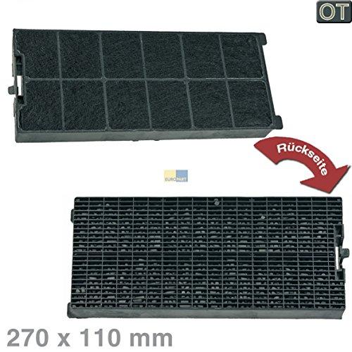 Küppersbusch 539525 ORIGINAL Kohlefilter Aktivkohlefilter Filter Geruchsfilter Dunstabzugshaube rechteckig 270x110mm Höhe Zub 880 / Alada90 / DHX110TISLA078185 / KD646.1E-91