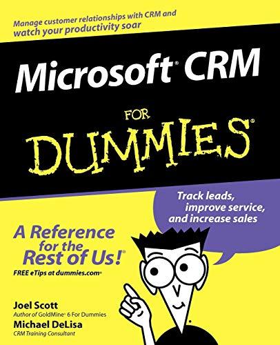 Microsoft CRM For Dummies