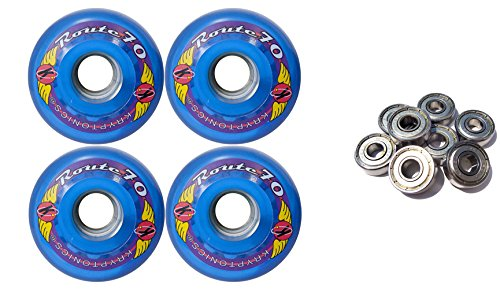 TGM Skateboards KRYPTONICS Route 70MM 78A Blue Longboard Skate Wheels + ABEC 9 Bearings