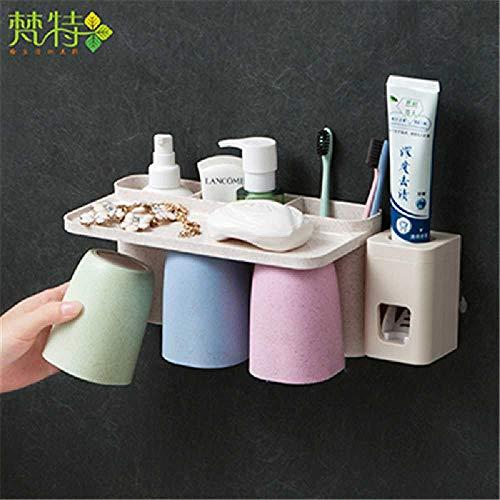 Onbekend No Brand tandenborstel rek muurbehang wasmachine tandenborstel vat tandenborstel kopje tandenborstel rek gargl mok set 16.8 * 12.7 * 12cm Paar - met knijpbare tandpasta