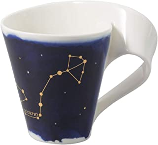 Villeroy & Boch 10-1616-5820 New Wave Stars Mug with Handle, Beautifully Shaped Cup with Scorpio Design, Premium Porcelai...