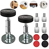 SETHAN Bed Frame Anti-Shake Tool, Adjustable Headboard Stoppers, Threaded Anti-Shake Fixer, Premium Support Tool for Beds Cabinets Chairs Sofas, Free Extra Extensions, 1.22-3.55in, Easy Install (2Pcs)