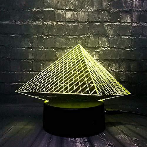 3D Lava atracciones turísticas Egipto pirámide Torre Eiffel decoración del hogar bebé sueño humor lámpara de mesa de brillo regalo de Navidad para niños