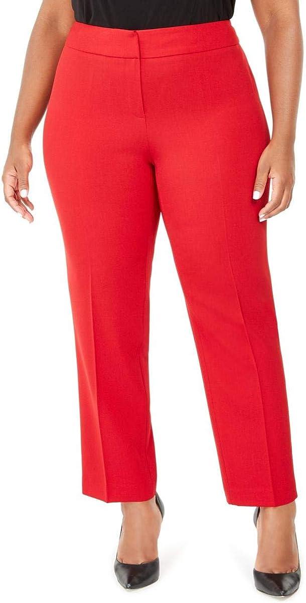 Kasper Women's Plus Size Slim Pant