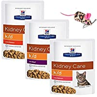 EVERYTHING HAVE TO BE ARRIVE IN ONE SINGLE FLAVOUR BOX (We reuse Original packaging, together with one free toy, please see the variation of toys on the last photo) Hill's Prescription Diet Feline k/d Kidney Care is a great tasting wet cat food avail...