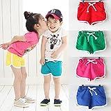 Covermason Niños Ropa Venta de liquidación Niños pequeños Bebés y niñas Pantalones cortos para niños Pantalones cortos para playa de verano de color caramelo(6T, rojo)