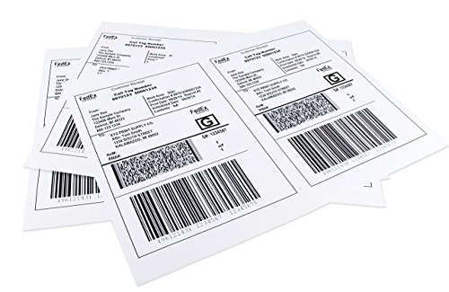 ChromaLabel 8-1/2 x 5-1/2 Inch Half Sheet Shipping Labels for Laser and Inkjet Printers, 50 Sheets, 100 Pack