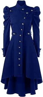 Women's Vintage Steampunk Long Coat JMETRIE Gothic Overcoat Ladies Retro Jacket