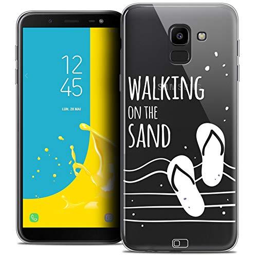 Samsung Galaxy J6 2018 Case - Ultra Slim Summer Walking on The Sand Case for 5.6 inch