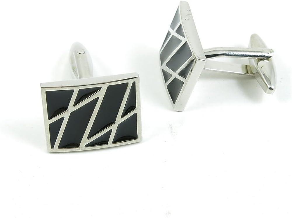 Cufflinks Cuff Links Classic Fashion Jewelry Party Gift Wedding 724266 Black Grid Geometry