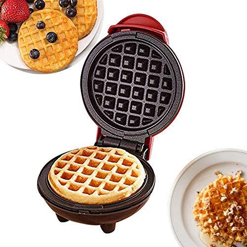 Cestbon Mini Waffeleisen Maschine Für Einzelne Waffeln Rot Waffelautomat Für Klassische Edelstahl 350W Haushalts Elektrischer Kuchen Hersteller Für Pfannkuchen Plätzchen,Rot