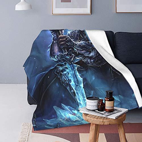 World of Warcraft - Manta de microfibra de sherpa para regalo de cumpleaños, cama y sofá de 125 x 150 cm