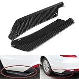 ulofpc 2pcs auto spoiler posteriore universale carbonio deflettore accessori auto (nero)