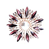 MYW Creative Cristal Broche en Alliage Perles Corsage Vêtements avec Accessoires Décorations (Color : Gold, Number : 1 pcs)