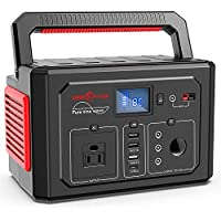 Rockpals 350W Portable Power Station with 110V AC Outlet (Blue/Black)