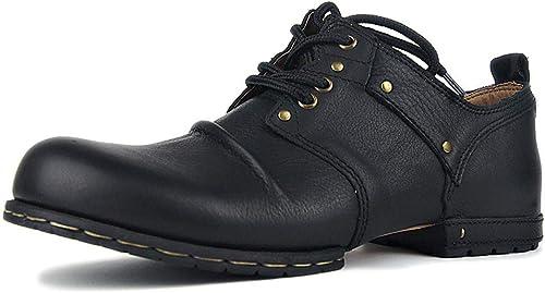 MALPYQ Stiefel Impermeables para herren, Stiefel de Utillaje de Cuero de Cuatro Estaciones, schuhe de Motocicleta, Uniformes para Exteriores, Stiefel de Combate