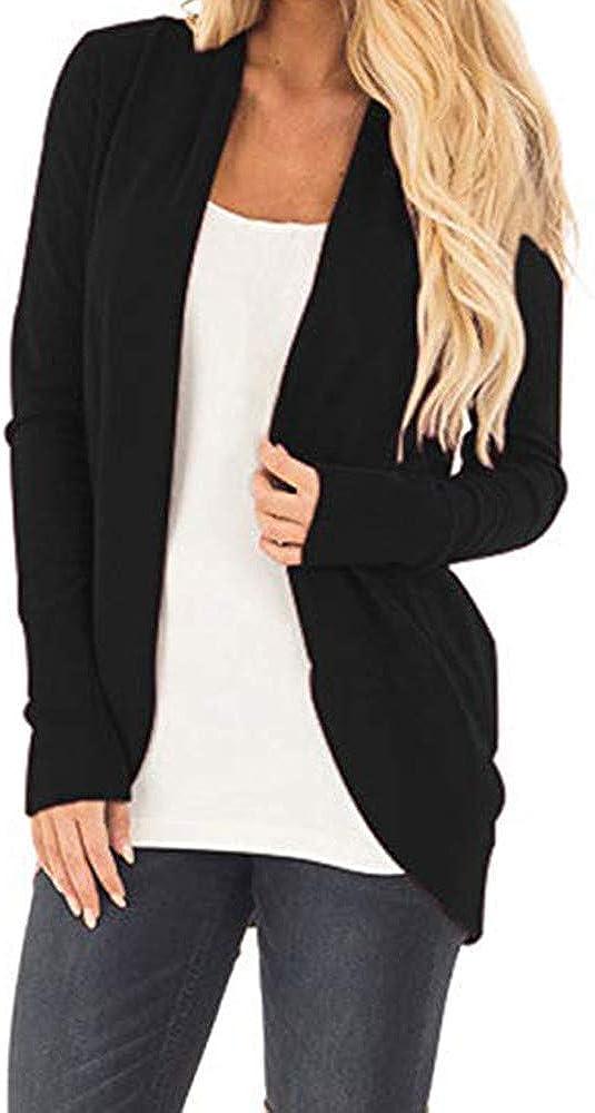 KYLEON Women's Soft Knit Sweater Outwear Open Front Kimono Cardigans Casual Draped Lightweight Soft Wrap Coat Blouses