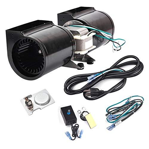 Criditpid GFK-160A GFK-160 Fireplace Blower Fan Kit for Heat N Glo, Quadra-Fire, Heatilator, Superior, Majestic, GTI Fireplaces, DV3732, Quadra-Fire 7100, Heat N Glo 6000CLX, SL-750TR.