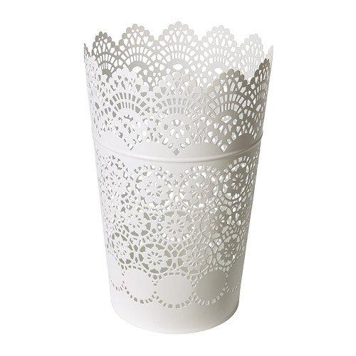 Ikea SKURAR - Linterna para el Bloque de la Vela, Blanco - 22 cm