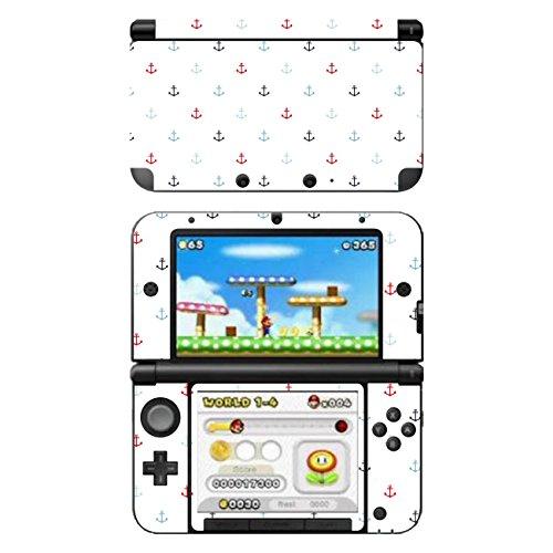 'Pellicola Disagu Design SF 104164_ 1040per Nintendo 3DS XL–Motivo'piccolo ancora–Blu/Rosso Trasparente