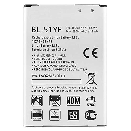 Ellenne Batería compatible con LG G4 BL-51YF AD alta capacidad 3000 mAh