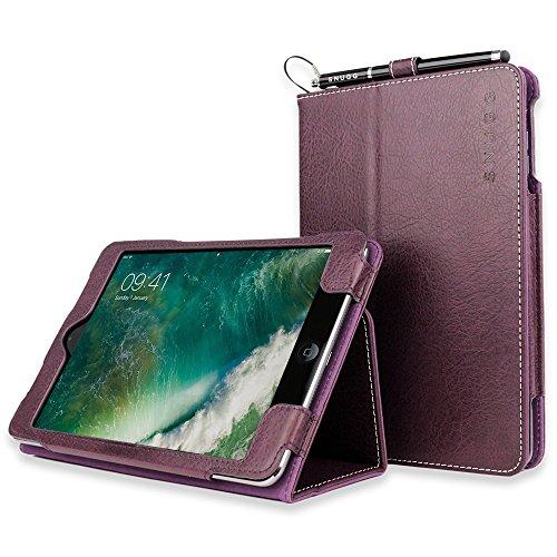 Snugg iPad Mini 1/2 / 3Schutzhülle, Leder Schutz Klapphülle Case Cover Ständer für Apple iPad Mini 1/2 / 3 - Amethyst-Violett
