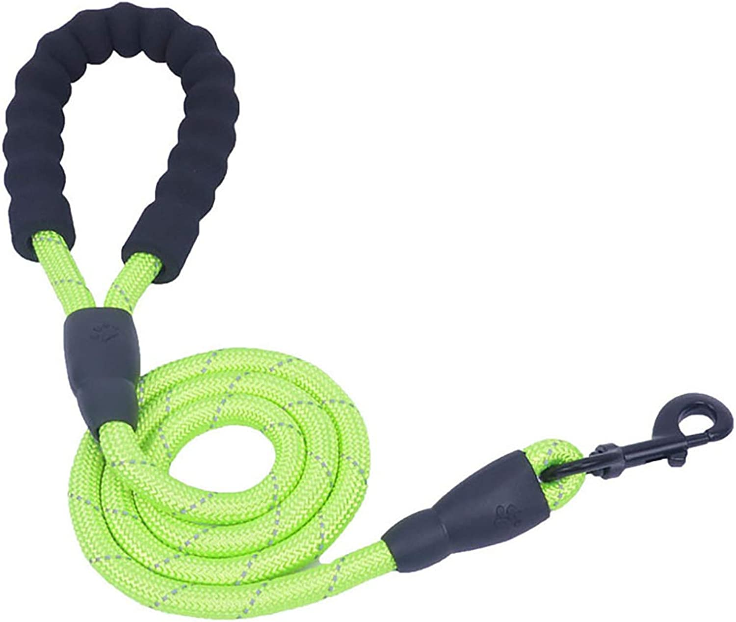 Pet Supplies Pet Leash Reflective Multicolor Round Rope Comfortable Handle Medium and Large Dogs 1.5 m