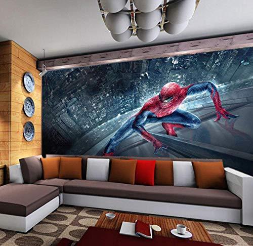 3D Stereo Schlafzimmer Wohnzimmer Sofa TV Hintergrund Tapete Persönlichkeit Tapete Spiderman Große Benutzerdefinierte Wandbild -150 * 105 cm