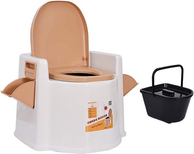 Camping Toilette,Les Personnes agees Les Femmes Enceintes Mobile Portable Toilette, sécurité de siège de Toilette élargie antidérapante (59  56  52cm)