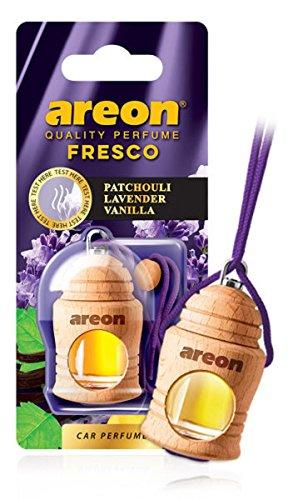 AREON Fresco Ambientador Coche Patchouli Lavanda Vainilla Colgante Olor Púrpura (Pack de 1)