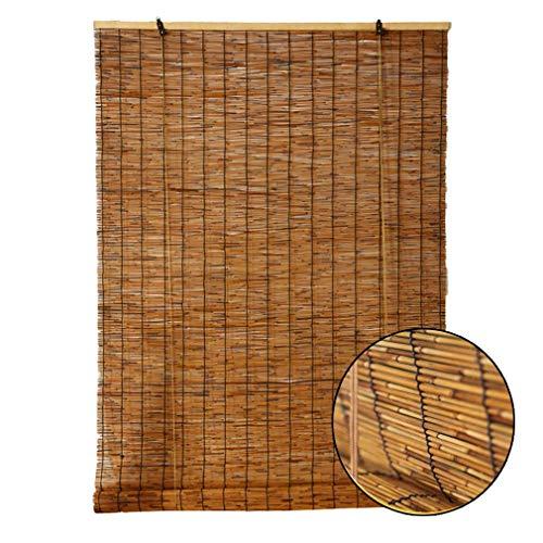 Cortina de caña Natural, Bambú Persianas de rodillos, Material de protección ambiental natural, Rodillo de bambú vintage Ciego con elevador, para al aire libre / patio, persianas de sombrilla
