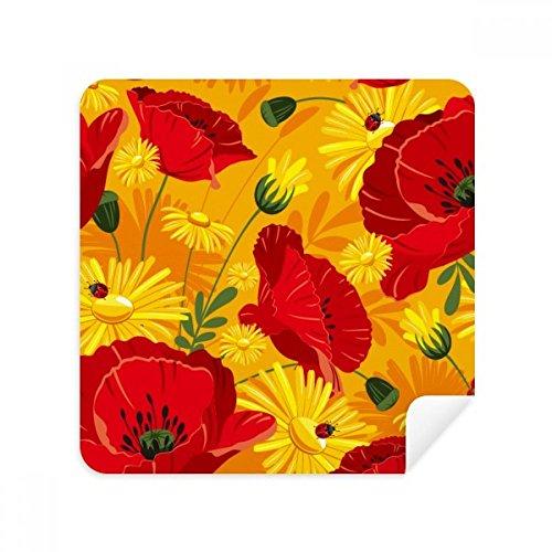 DIYthinker Canvas Bloemen Plant Schilderen Maïs Poppy Bril Schoonmaken Doek Telefoon Screen Cleaner Suede Stof 2 Stks