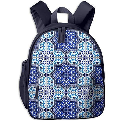 Kinderrucksack Kleinkind Jungen Mädchen Kindergartentasche Spanische Fliesen Backpack Schultasche Rucksack