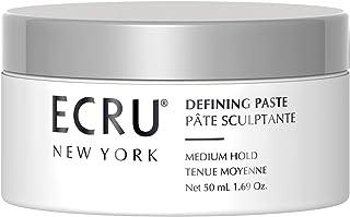 "Ecru New York Defining Paste. A Medium Hold, Matte Finish Hair Paste. Result- Rough "" Slept-In"" Texture. 1.69 oz."