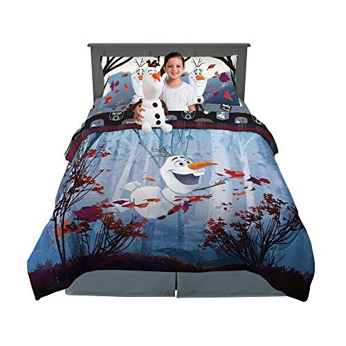 Franco Kids Bedding Comforter with Sheets and Plush Cuddle Pillow Set, 6 Piece Full Size, Disney Frozen 2 Olaf