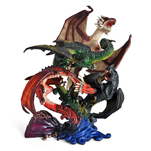Noble Collection - Harry Potter Creature Magiche-Diorama Dragones de la Primera Prueba, Multicolor, NN7531