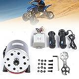 Kit de conversión de motor eléctrico para scooter, motor de cepillo con 25H 11 dientes, 2750 rpm 800 W 36 V CC para scooter, pequeño kart, ATV