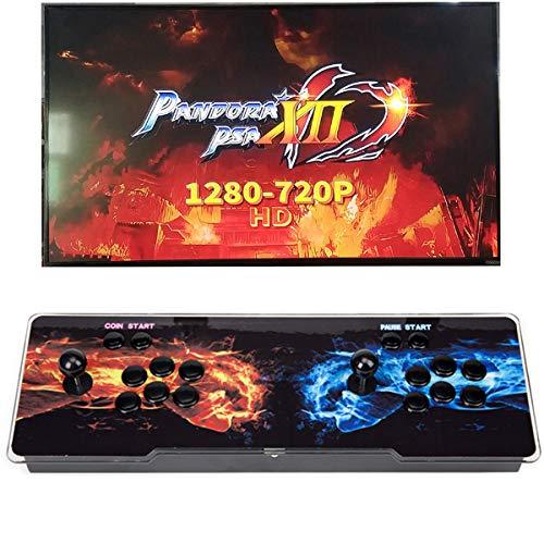 ZAIQUN Pandora XII Box Arcade Console 1280x720 Full HD Video Retro Game Console Compatible with HDMI VGA USB Support Multiplayers Add More Games