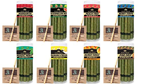 King Palm | Flavor Mini Size | 20 Pack | Natural Slow Burning Pre-Rolled Palm Leafs with Filter Tip (Mango Tango)