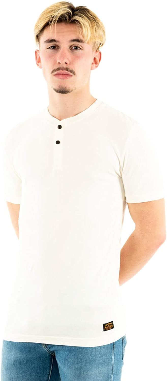 Superdry Organic Cotton Short Sleeved Henley T-Shirt