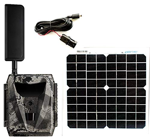 Spartan Ghost Verizon 4G LTE GC-W4Gb Blackout IR Infrared Hunting Trail Camera Deluxe Package with 12V 15inch 10W Solar Panel(Camera, Solar Panel + Cable)