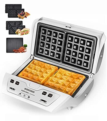 Waffle Maker -2021 Newest WOWDSGN Sandwich Maker,Toaster and Panini Press...