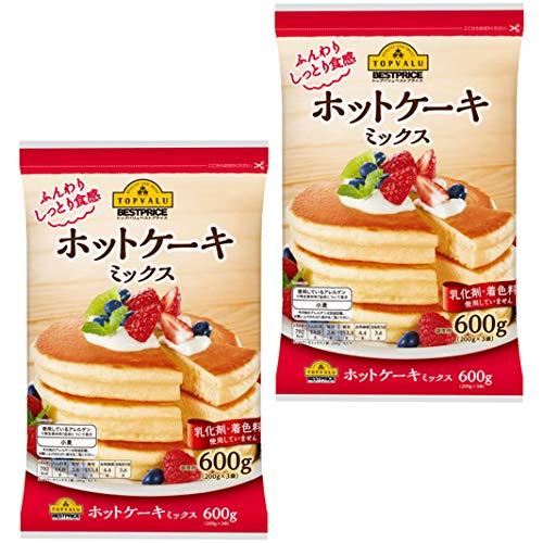 【2セット(600g×2)】 トップバリュ ホットケーキミックス 600g ホットケーキ ミックス スイーツ おやつ お菓子 パンケーキ