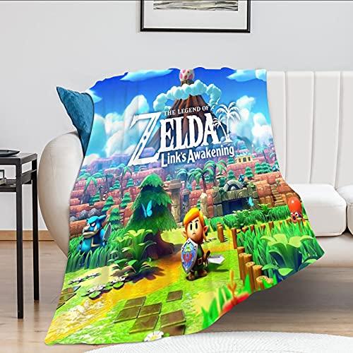 The Legend of Zelda Coperta Coperta in pile di flanella ultra morbida per divano o letto Coperta calda per adulti o bambini Links Awakening Coperta 50x40 pollici