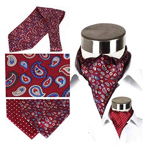 YANGJUN Krawattenschal Männer Doppelseitig Stickerei Drucken Hemd England Muster Büro Bankett, 7 Farben (Farbe : G, größe : 128x15cm)