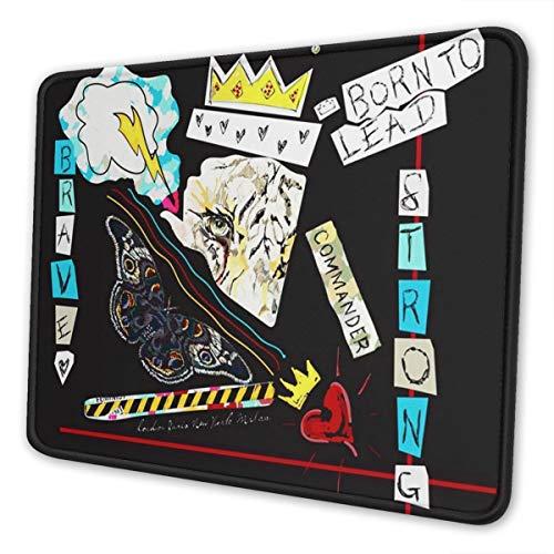 OMNVEQ Alfombrilla De Ratón Gaming Alfombrilla Mouse Pad Mat Nacido para liderar el Tigre Soporte para Ordenador, PC y Portátil