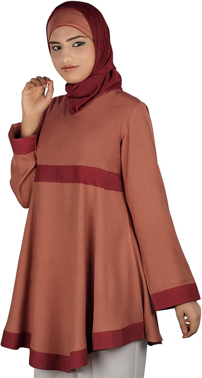 MyBatua Women's Islamic traditional Sarish tunic in redwood